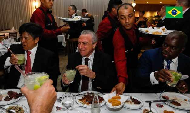 President Michel Temer hosts a dinner party to Ambassadors at Steak Bull