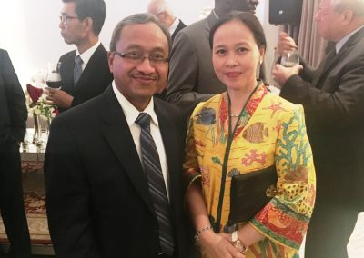 15 Minister Counsellor Mr. Sudarsono Soedirlan and his wife Mrs. Soedirlan