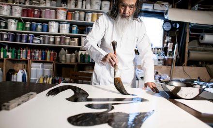 06-19 Exhibit Um Pincel presents zen budhist artist Kazuaki Tanahashi