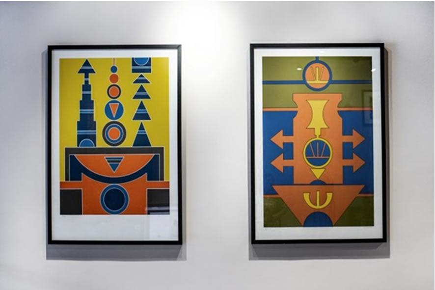 Exhibition by Rubem Valentim in Olaria Art Gallery