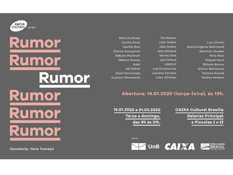 """Exhibition """"RUMOR"""" at Caixa Cultural"""