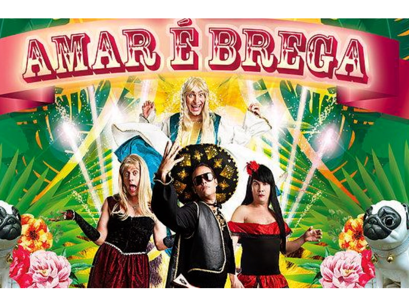 Comedy play AMAR É BREGA (Loving is tacky) discusses love at Teatro Maristão (theatre).