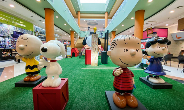 Exhibit dedicated to Snoopy and his friends at the Boulevard Shopping.