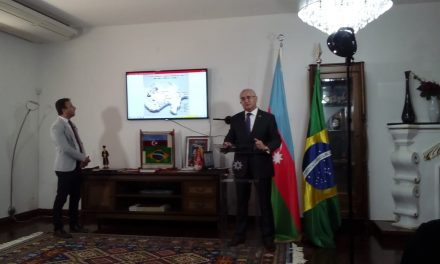 Ambassador of Azerbaijan welcomes journalists to inform about armed conflict in his country.