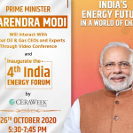 Embassy of India informs: Prime Minister Modi's interaction with global Oil and Gas CEOs on 26 October 2020