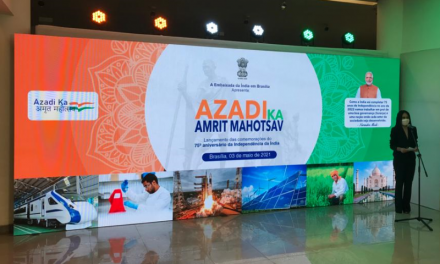 Embassy of índia celebrates the launch in Brazil of AZADI KA AMRIT MAHOTSAV