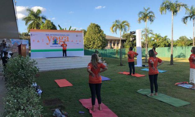 Embassy of India Celebrates the 7th international Yoga Day.